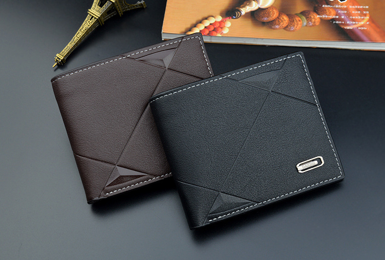 2021 nova carteira masculina curto multi-card moda