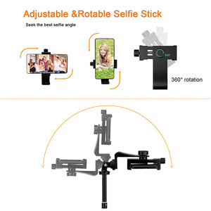 """Image 2 - Lightweight Selfie Stick Tripod Stand 51"""" Extendable Phone Mount Stand Wireless Remote For  iPhone 11 Pro XR Gopro Digtal Camera"""