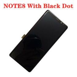 Oryginalny wyświetlacz AMOLED LCD z czarną kropką do SAMSUNG NOTE8 LCD N950U N950A N950F ekran dotykowy Digitizer zgromadzenie