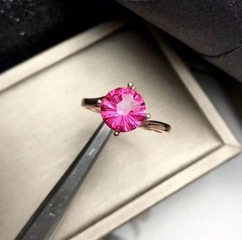 Pink Topaz Natural And Real Topaz Ring Wedding Engagement Topaz Ring Fine Jewelry Wholesale 925 sliver Ring