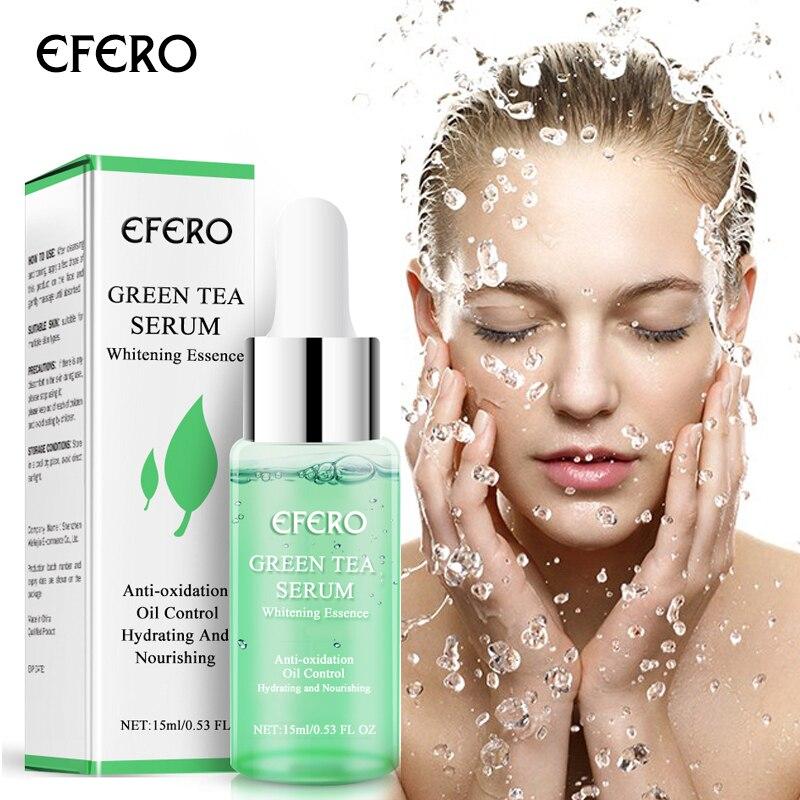 EFERO Face Serum Green Tea Serum Skin Care Moisturizing Whitening Anti-Aging Face Essence Acne Treatment Oil Control Cosmetic