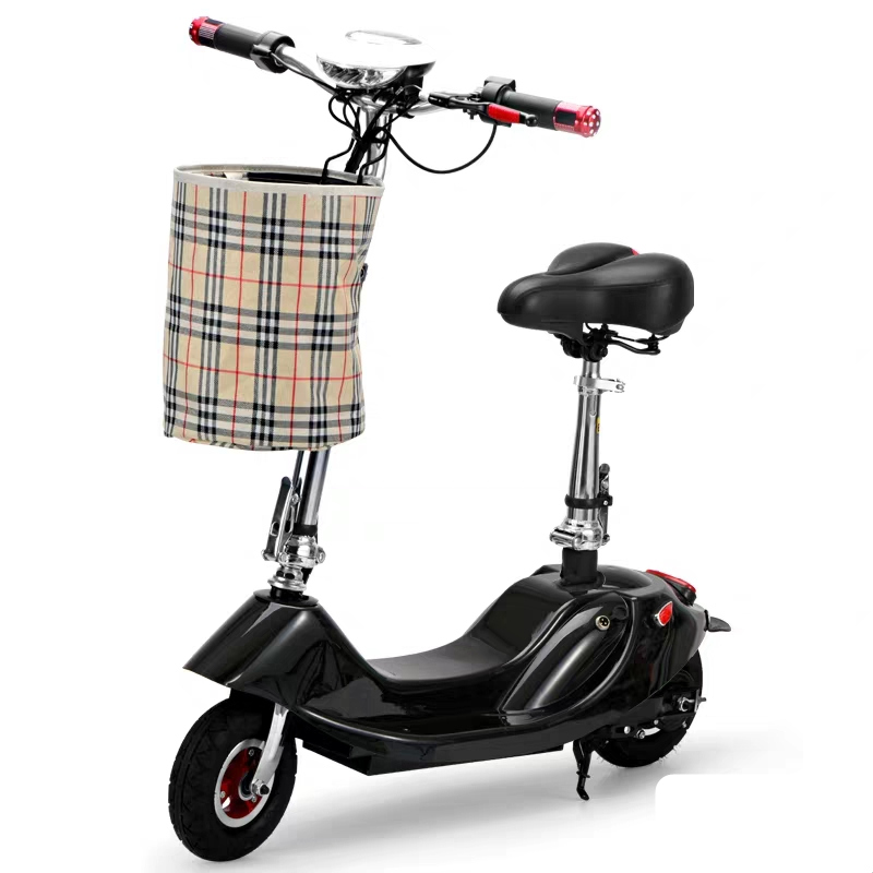 Fashion Lady Adult Mini Bike Foldable Moto Bicycle With Seat 8 Inch 2 Wheel Folding Electric Mobility Scooter With Basket