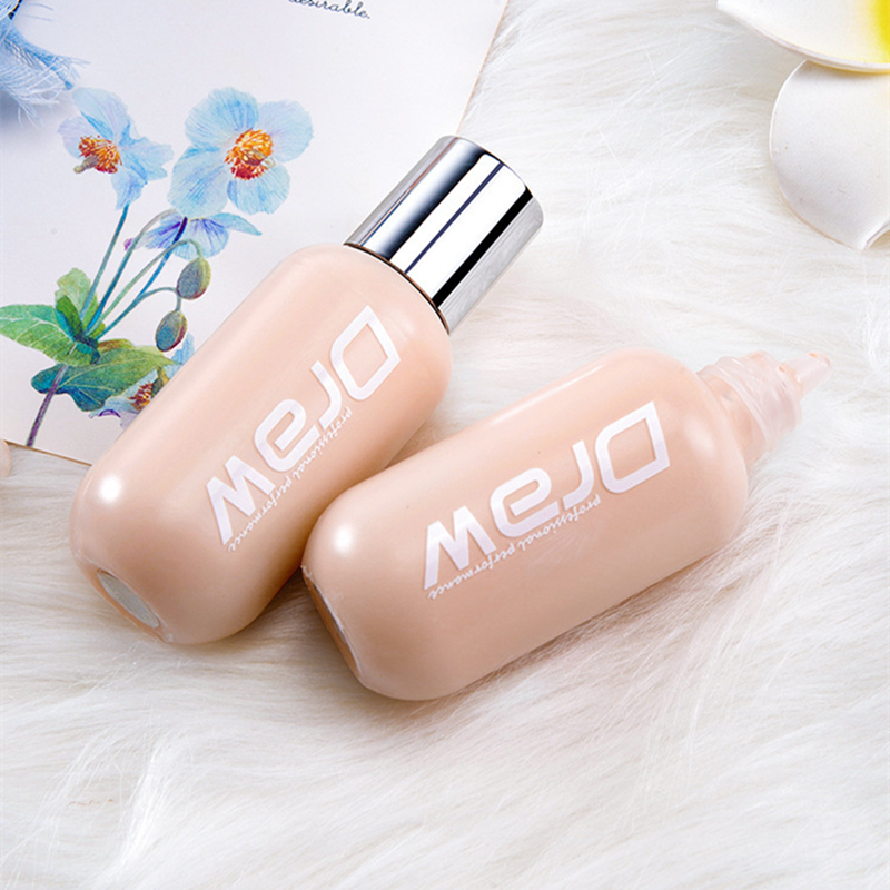 50ml Face Sun Block Foundation Cream Waterproof Make Up Mineral Liquid Foundation Full Cover Base Concealer Makeup Cosmetics image