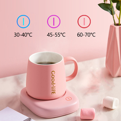 220V Cup Heater Mini Portable Thermostatic Tablemat Heating Coaster Mat Electric Hot Tea Makers Desktop Heater Hot Milk Machine