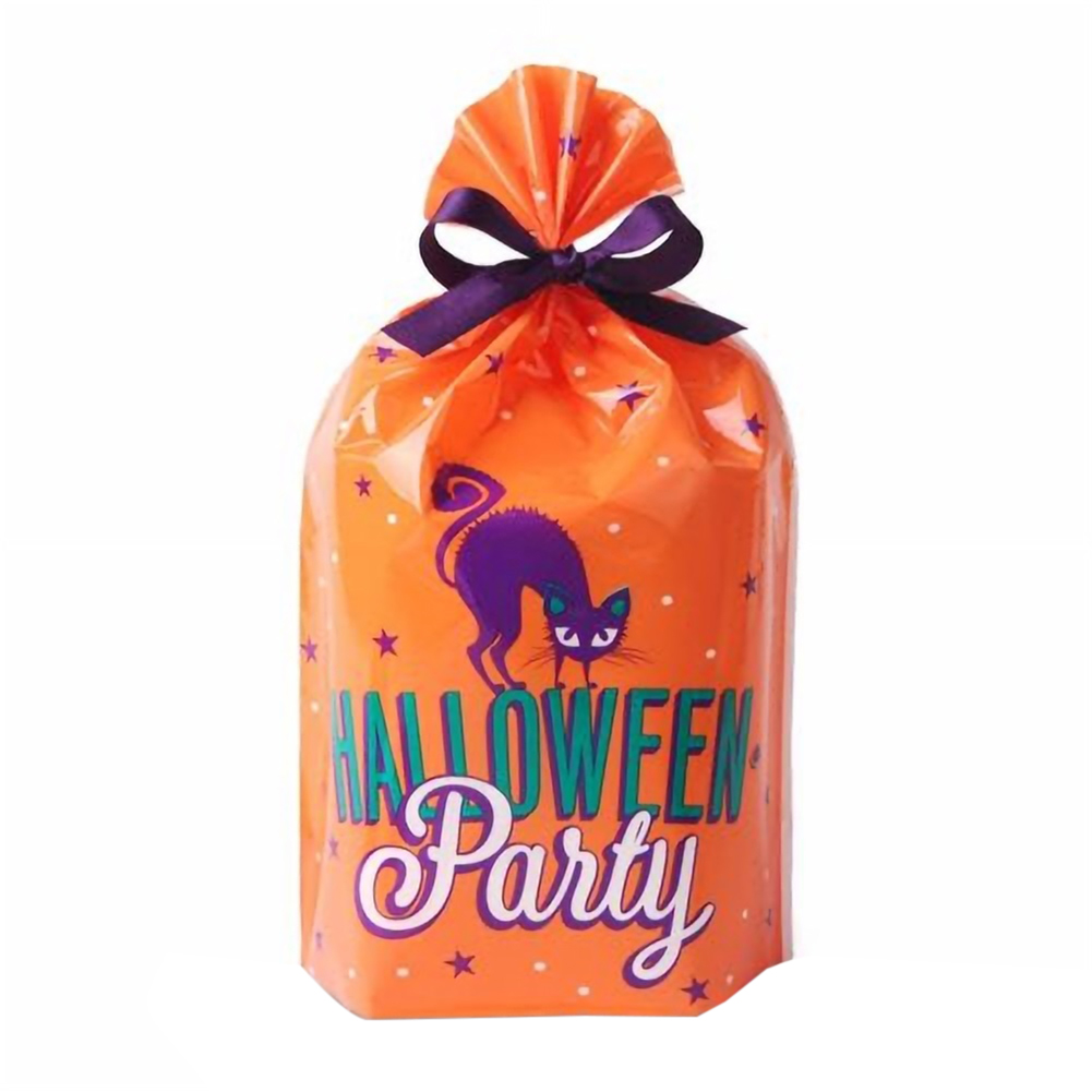 50pcs Cute Witches Candy Bag Funny Halloween Gift Bags Holiday Supply Creative Trick or Treat Bag Goodie Storage Holder For Kids