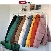 Men Funny Colorful Bubble Coat Winter Jacket 2019 Mens Streetwear Hip Hop Parka Male Korean Black Clothes Puffer Jacket