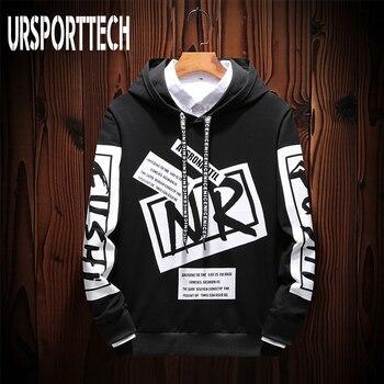 Black White HOODIE Men Casual Hip Hop Street Wear Letter Print Sweatshirts Skateboard Men/Woman Pullover Hoodies Male Hoodie