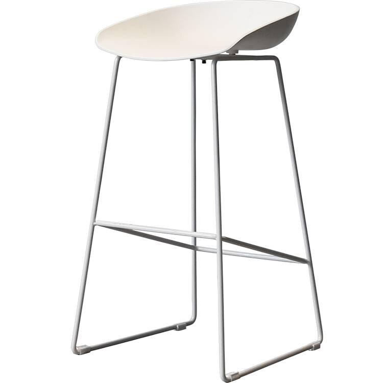 Nordic Modern Minimalist Creative Ins White Leisure Bar Chair Bar High Bar Chair Iron Stool Ins
