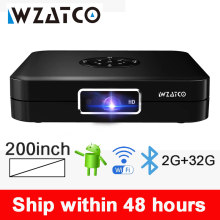 Wzatco D1 DLP Proyektor Mini 2G + 32G Android 5G Wifi 200 Inci Beamer 3LED Smart Pocket projector Support Full HD 1080P AC3(China)