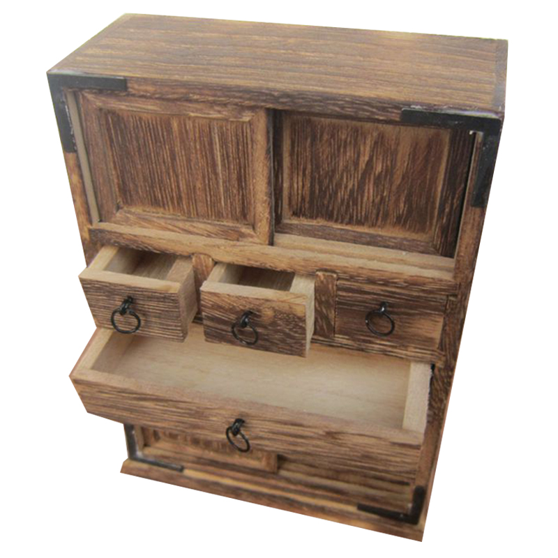 Handmade Antique Wooden Cabinet Living Room Ornament New Home Mini Furniture Model Food Play Nostalgia|Figurines & Miniatures| |  - title=