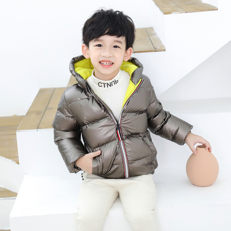 Boys Girls Jackets Hooded Outerwear Winter Children Warm Thick Jacket For Kids Clothes Baby Outerwear Zipper Coats Ski Jacket 6