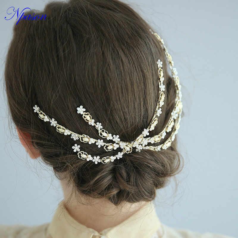 Nouveauté peigne à cheveux femmes diadème mariée doré cheveux bijoux modélisation photographie ornements mariage mariée cheveux accessoires J6240
