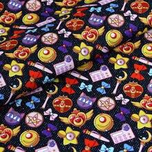 Tela de algodón con estampado de dibujos animados para niños, costura de ropa de primavera y verano, telas acolchadas para retales, costura, 50x140cm