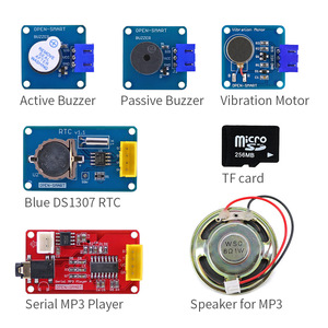 Image 3 - Easy Starter Kit Easy plug colorful XH 2.54mm socket Sensor Kit with MP3 RTC Temperature Sensor module for Arduino UNO R3