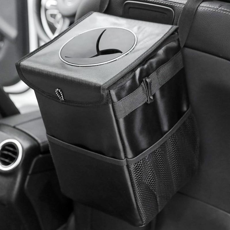 Organizador de maletero de coche, bolsa de almacenamiento para asiento trasero, cubo de basura plegable impermeable, tela Oxford, organizador grande para asiento trasero de coche, accesorios para coche
