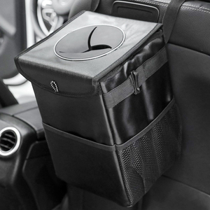 Car Trunk Organizer Backseat Storage Bag Waterproof Folding Trash Can Oxford Cloth Big Car Seat Back Organizers Car Accessories