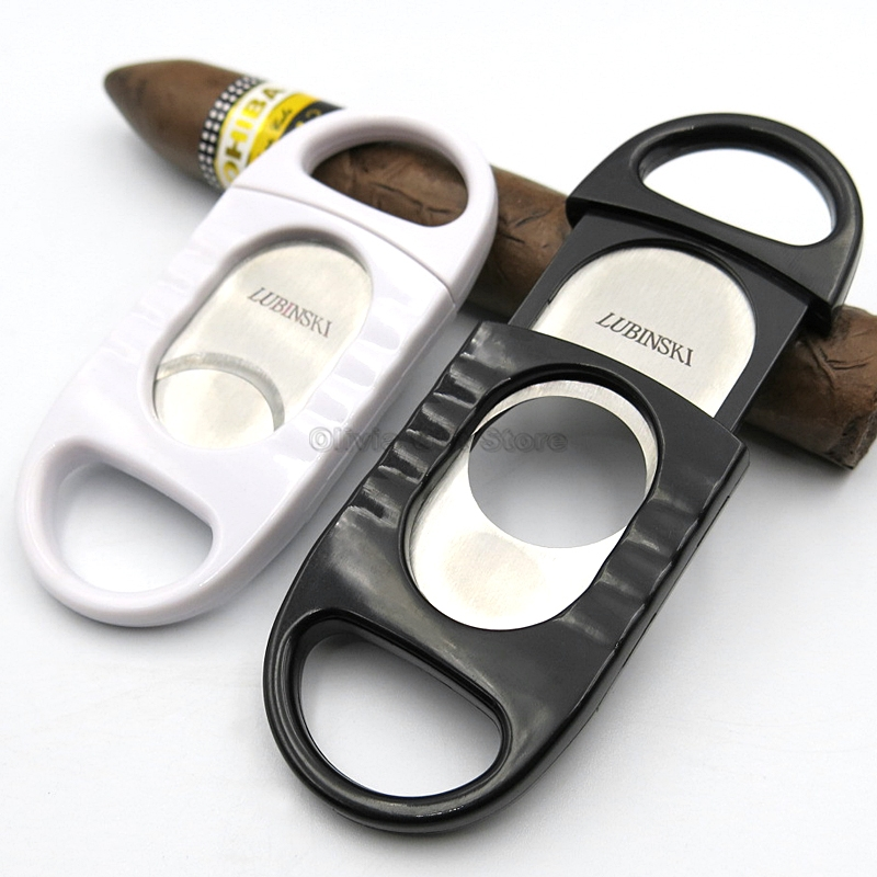 LUBINSKI Big Ring Gauge Cutter Stainless Steel Duals Cigars Sharp For COHIBA