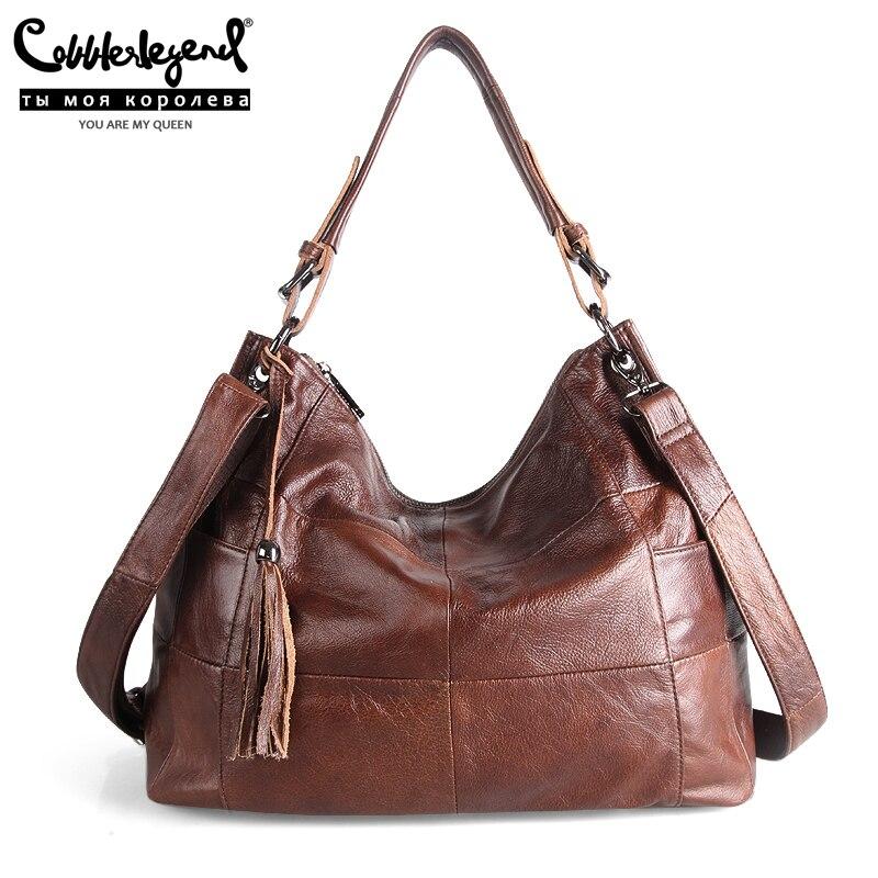 Cobbler Legend Large Capacity Tassels Bucket Handbag Designer Women Hobos Bag Soft Leather Crossbody Shoulder Bags Ladies Tote