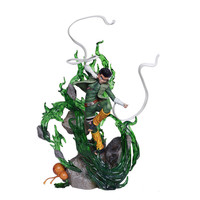 12.60 Anime NARUTO Rock Lee Eight Gates Form Uzumaki Naruto's partner GK Box Action Figure Collectible Model Toy Z57 32cm