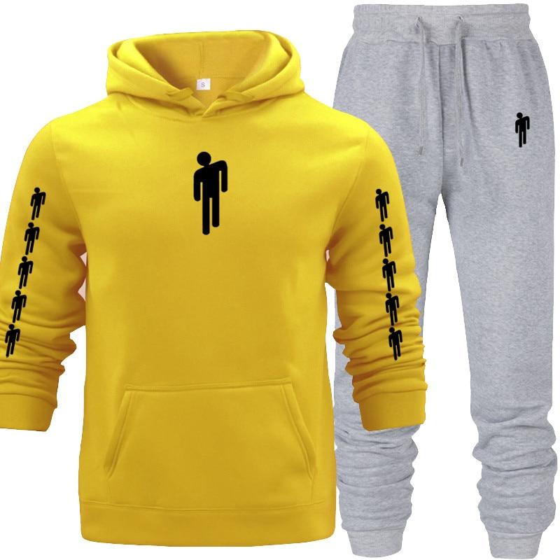 Blue Hoodies Fashion Sweatshirt Men Hood Hoodies Women Long Pants Fleece Pullover Tops Fleece Pullover Tracksuit Outwear Sweat