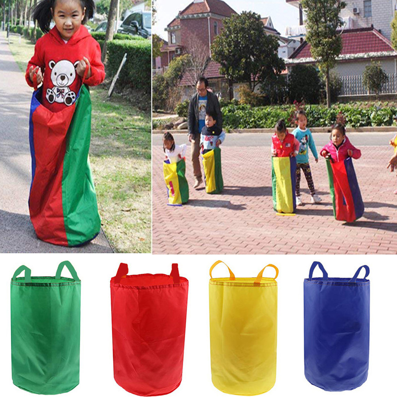Kids Adult Jumping Sports Balance Training Toy Family Sack Racing Games For Friends Party Garden Outdoor Fun Toy School Activity