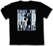 2019 Fashion  Fight The Dead Fear Living Ii T-Shirt - Zombie Walking Walkers Biters D Tee Shirt Sweatshirts