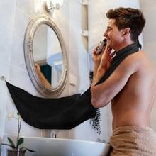 Shaving Beard Apron Bib Trimmer Facial Hair Cape Sink Male Black White Waterproof Bathroom supplies
