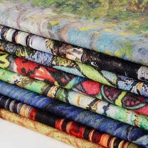 Image 5 - Pashmina de cachemir largo cálido de doble cara para mujer, pañuelos de pintura al óleo, chal, para invierno