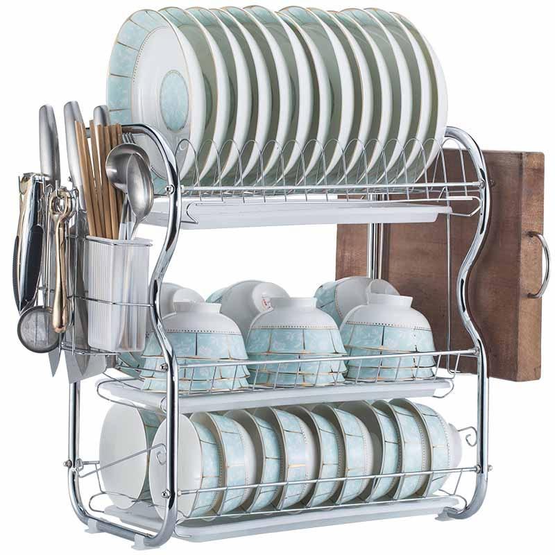 Stainless Steel Kitchen Hanging Basket Household Desktop Art Storage Basket Bathroom Storage Box Sundries Wall Organizer Rack