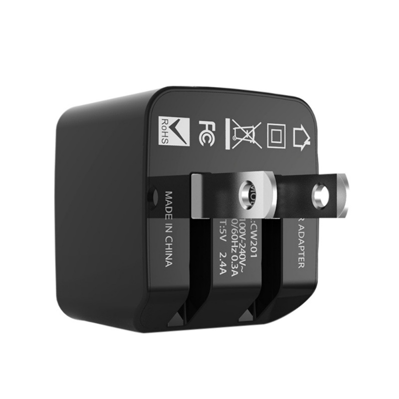 Wall Charger 5V 4A Output Dual <font><b>USB</b></font> Ports Folding Portable Plug Charging Block <font><b>Power</b></font> <font><b>Adapter</b></font> image