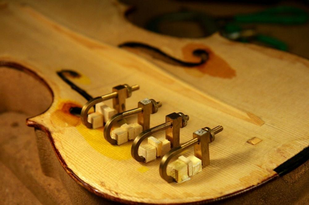 5 шт. инструмент для скрипки, латунный зажим для ремонта трещин, инструмент для скрипки# Q39