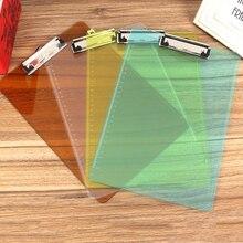 2 шт./лот A4 папка доска для письма PP папка с зажимом прозрачный пластиковый пояс весы доска для объявлений папка для документов офисные принадлежности