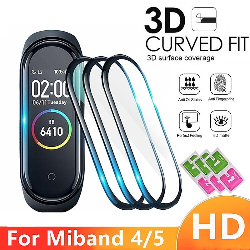 3D Защитная пленка для Xiaomi Mi band 4 5, полное покрытие, пленка для Mi band5, умный ремешок для часов, мягкая защита для экрана, чехол для Mi Band
