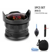 Foleto Manual Fixed 7.5mm F2.8 Fisheye Lens 180 APS C Manual Fixed Camera Lens For E Mount Canon EOS M Mount Fuji FX Mount M4/3
