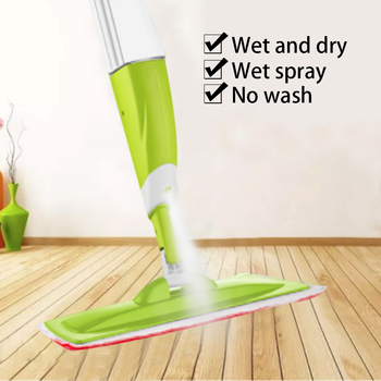 Spray Floor Mop With 3 PCS Cleaning Cloth Head Combination Wooden Floor Ceramic Tile Automatic Mop Dry Home Cleaning Tools
