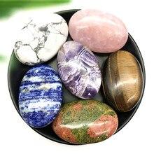 1 adet doğal kaplan gözü ametist Pholished türlü Palm taşlar şifa kristalleri taş Reiki malzemeleri enerji çakra eskitme kuvars
