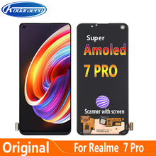 Original Super AMOLED Display For Realme 7 Pro RMX2170 LCD Display Screen Touch Digitizer Fingerprint Scanner With Screen