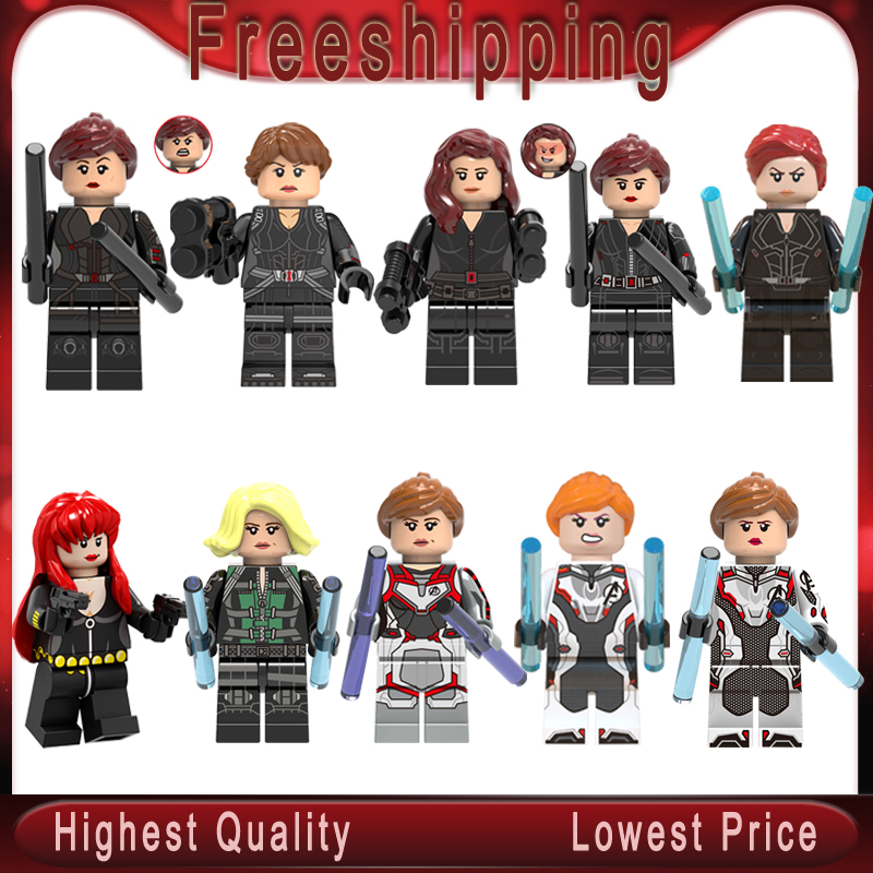 Legoed Black Widow Super Heroes Captain America Iron Hawkeye Minifigured Aciton Figure Builidng Blocks Toys For Children Gift