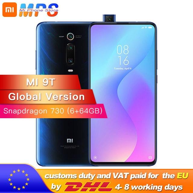 Global Version Mi 9T 6GB RAM 64GB Smartphone Snapdragon 730 Octa Core 4000mAh Pop up Front 48MP Rear Camera AMOLED