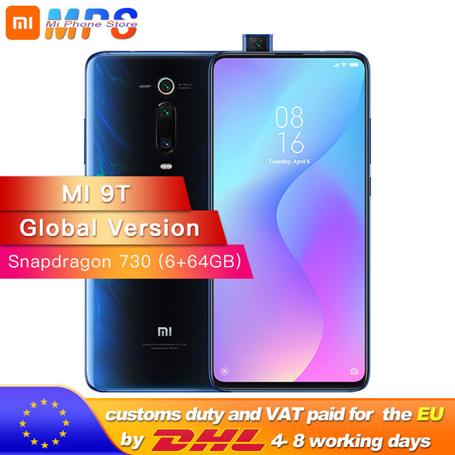 Version mondiale Mi 9T 6GB RAM 64GB Smartphone Snapdragon 730 Octa Core 4000mAh Pop up avant 48MP caméra arrière AMOLED
