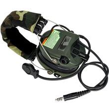 Auriculares tácticos de caza, reducción de ruido, Airsoft, militares, Softair, Walkie Talkie, Headse FG