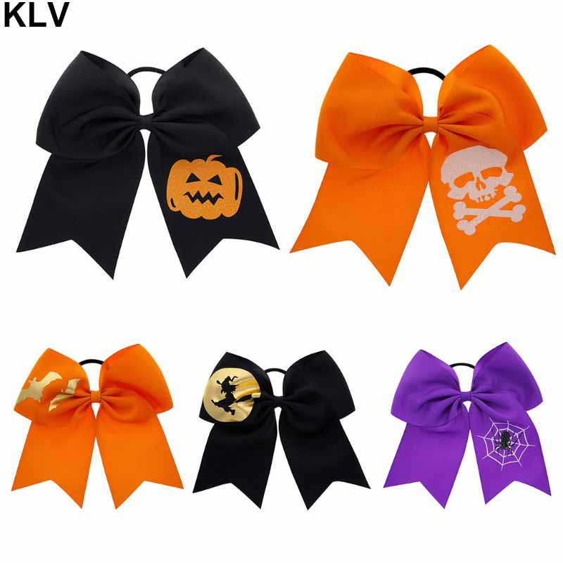 Children Girls Halloween Dress Up Hair Ring Funny Bats Big Bow-knots Modeling Kids Head Rope