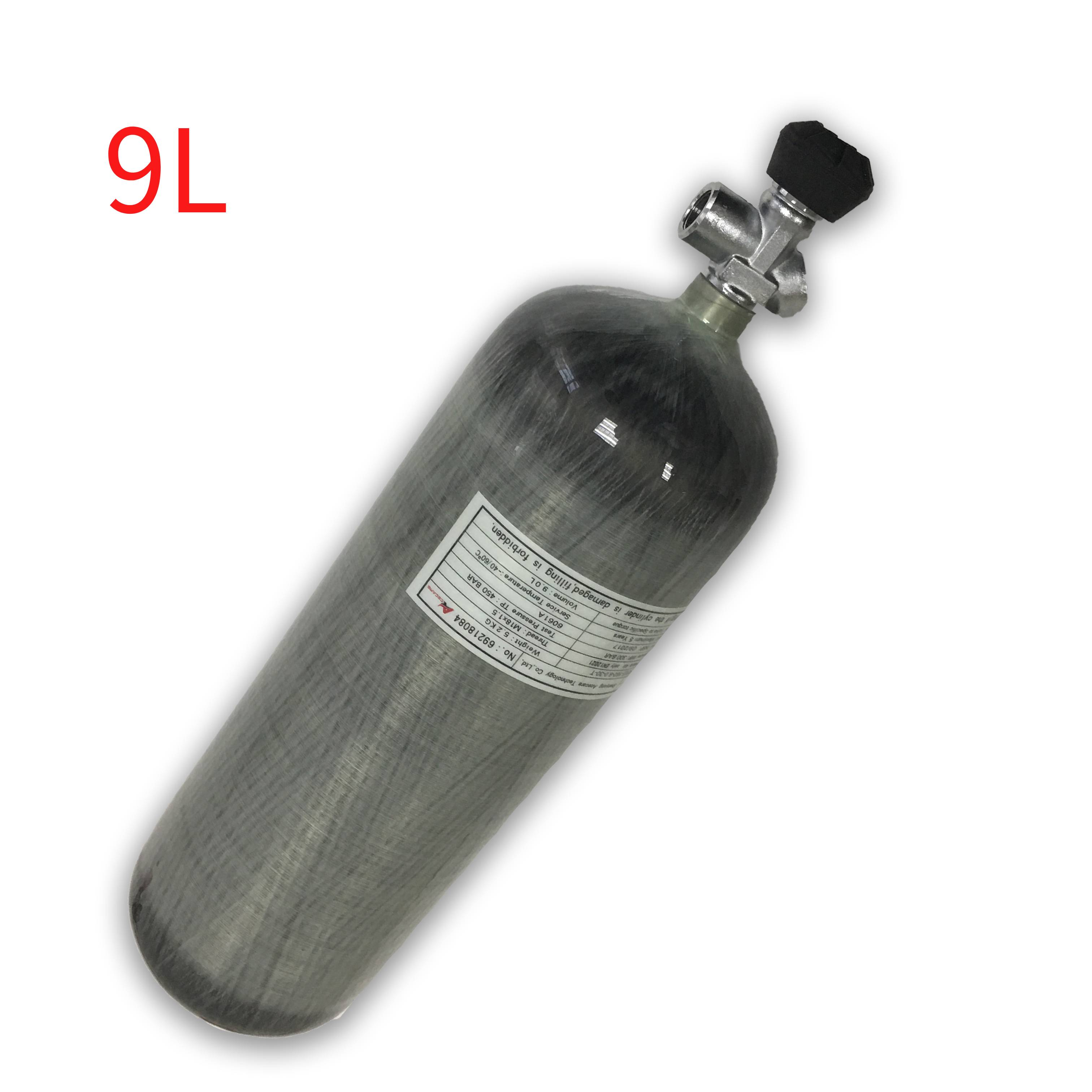 AC1090 Hpa Compressed Hunt Scuba Pcp Bottle Air Paintball Co2 4500psi Underwater Gun 300bar Breathing Apparatus Diving Cylinder