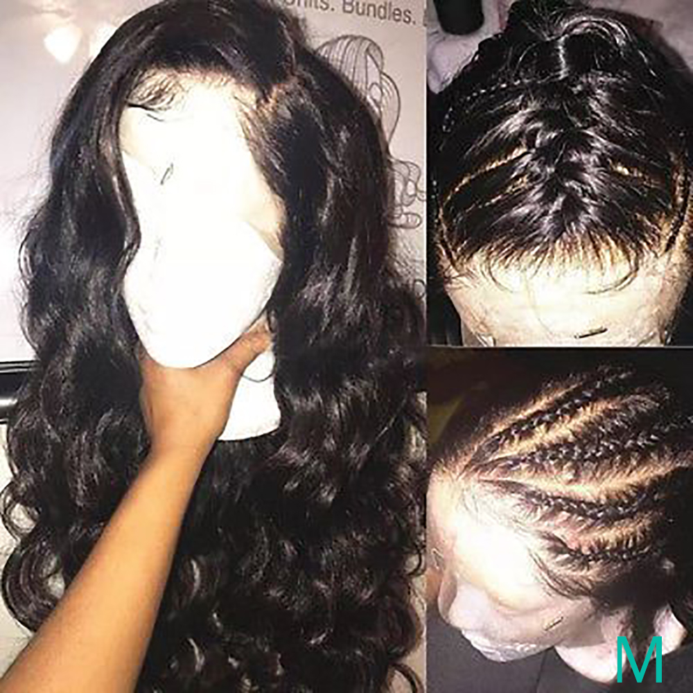 Lace Front Human Hair Wigs Body Wave Pre Plucked Hairline 8-26Inch Mayfair Remy Brazilian Human Hair Wigs 13x4 Lace Frontal Wigs