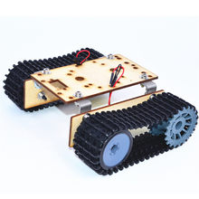 Small Hammer DIY Smart Wooden RC Robot Tank With Plastic Crawler Belt TT Motor For Arduino UNO(China)