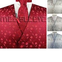 Мужской деловой классический роскошный жилет с галстуком+ носовой платок