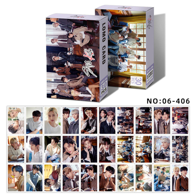 ATEEZ Set Leotiee 30pcs Kpop Ateez Red Velvet Nct Dream Lomo Card Photocards Collection Card with Greeting Card Postcards Box