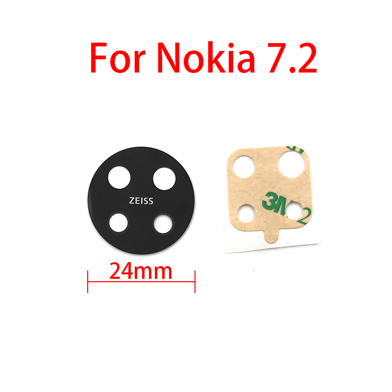 Camera Glass For Nokia 7.2 Rear Back Camera Lens Glass + Sticker