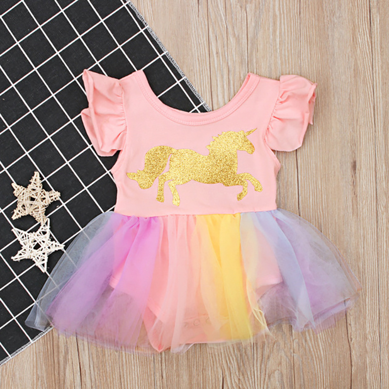 0 24M Toddler Infant Baby Clothes Newborn Girls Cotton Bodysuit Lace Bodysuits Outfits Clothes Ruffled Sleeve Princess Dress in Bodysuits from Mother Kids