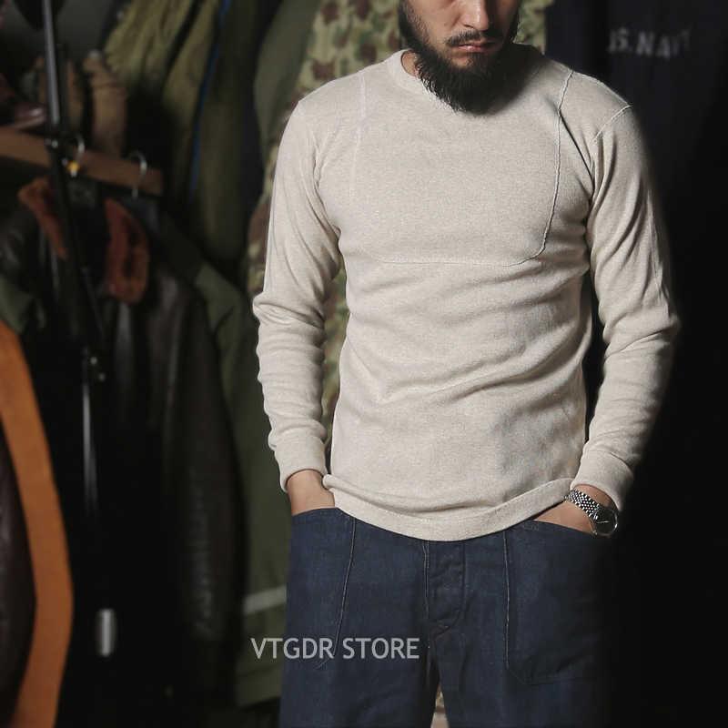 Bronson 40s USN T-Shirts Long Sleeve Heavyweight Basic Undershirts Tee Slim Fit